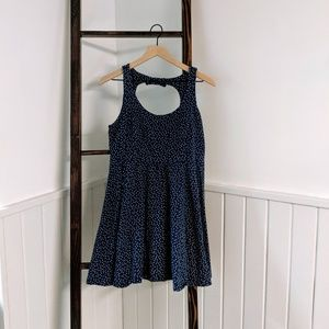Lauren Conrad L Blue + White Polka Dot Dress
